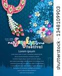 a4 songkran festival  thailand... | Shutterstock .eps vector #1348109903