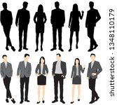 set of silhouettes of men and... | Shutterstock .eps vector #1348110179