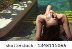 sensual young woman realxing in ... | Shutterstock . vector #1348115066