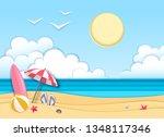 sea or ocean landscape  sea...   Shutterstock .eps vector #1348117346