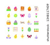 set of easter icons for the... | Shutterstock .eps vector #1348117409