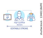 high qualified doctors concept...   Shutterstock .eps vector #1348118690