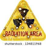 radiation area warning  w... | Shutterstock .eps vector #134811968