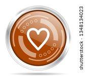 heart  love silver metallic... | Shutterstock .eps vector #1348134023