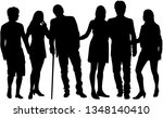 group of people. crowd of... | Shutterstock .eps vector #1348140410
