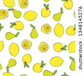 background with juicy fruits.... | Shutterstock .eps vector #1348145276