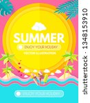 hello. summer  vacation and... | Shutterstock .eps vector #1348153910