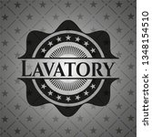 lavatory realistic black emblem   Shutterstock .eps vector #1348154510