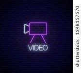neon sign of video camera...   Shutterstock .eps vector #1348157570
