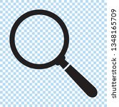 search icon. magnifying glass... | Shutterstock .eps vector #1348165709