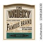 whiskey label for packing.... | Shutterstock .eps vector #1348168130