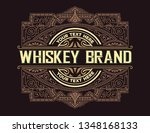whiskey label with old frames | Shutterstock .eps vector #1348168133