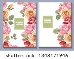 set of vector botanical banners ... | Shutterstock .eps vector #1348171946