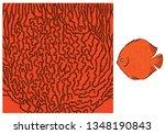 vector fish texture. underwater ... | Shutterstock .eps vector #1348190843
