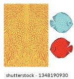 vector fish skin texture print. ... | Shutterstock .eps vector #1348190930