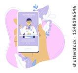 online medicine concept with... | Shutterstock .eps vector #1348196546