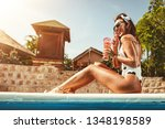 beautiful smiling happy young...   Shutterstock . vector #1348198589