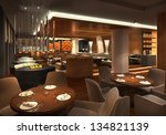 3d render of a restaurant ... | Shutterstock . vector #134821139