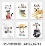 collection of children cards...   Shutterstock .eps vector #1348216766