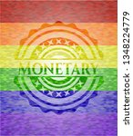 monetary on mosaic background... | Shutterstock .eps vector #1348224779