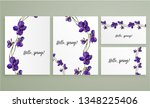 vector floral greeting card set ... | Shutterstock .eps vector #1348225406