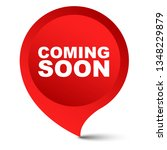 red vector banner coming soon | Shutterstock .eps vector #1348229879