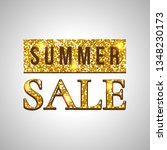 summer sale glitter text on... | Shutterstock .eps vector #1348230173