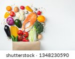 food from the supermarket.... | Shutterstock . vector #1348230590