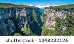 Beautiful landscape view of Itaimbezinho Canyon - Cambara do Sul, Rio grande do Sul, Brazil