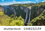 Beautiful View Of A Waterfall...