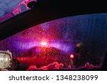 night city lights through... | Shutterstock . vector #1348238099