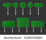 realistic traffic signs on... | Shutterstock .eps vector #1348242860