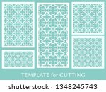 decorative panels set for laser ... | Shutterstock .eps vector #1348245743