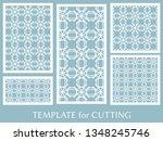 decorative panels set for laser ... | Shutterstock .eps vector #1348245746