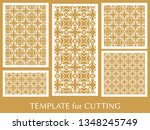 decorative panels set for laser ... | Shutterstock .eps vector #1348245749