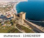 genoese fortress in sudak ...   Shutterstock . vector #1348248509