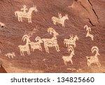 Ute Petroglyphs Near Wolfe...