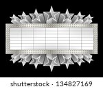 marquee banner with stars  and... | Shutterstock .eps vector #134827169