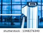 turnstile. checkpoint.... | Shutterstock . vector #1348276340