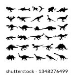dinosaurs large collection. t...   Shutterstock .eps vector #1348276499