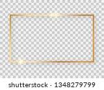 gold shiny 16x9 rectangular... | Shutterstock .eps vector #1348279799
