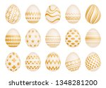 set of fifteen easter eggs with ... | Shutterstock .eps vector #1348281200