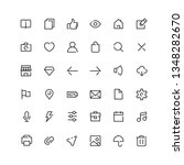 user interface outline icons