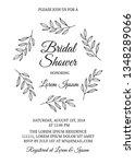 bridal shower invitation card... | Shutterstock .eps vector #1348289066