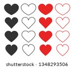 heart icons. collection of... | Shutterstock .eps vector #1348293506