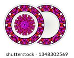 set of flower round pattern and ... | Shutterstock .eps vector #1348302569