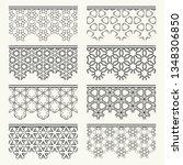 set of black seamless borders ... | Shutterstock .eps vector #1348306850