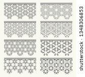 set of black seamless borders ... | Shutterstock .eps vector #1348306853