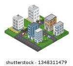 isometric building vector.... | Shutterstock .eps vector #1348311479