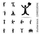 businesswoman  jump icon.... | Shutterstock . vector #1348318346